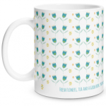 Vintage Floral Glossy Mug
