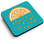 Orange Juice Coaster