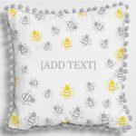 Bees Pom Pom Cushion