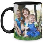 2 Photo Black Mug