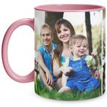 2 Photo Pink Mug