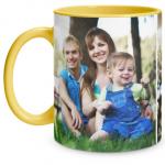 2 Photo Yellow Mug