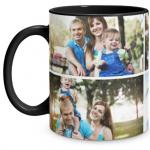 4 Photo Black Mug