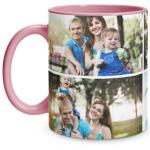 4 Photo Pink Mug