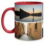 4 Photo Red Mug