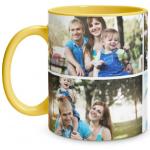 4 Photo Yellow Mug
