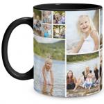 Collage Black Mug