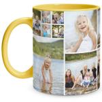 Collage Yellow Mug