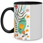 Floral Pop Black Mug