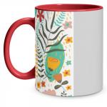 Floral Pop Red Mug