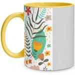 Floral Pop Yellow Mug