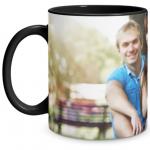 Full Photo Black Mug