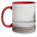 Full Photo Red Mug
