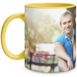 Full Photo Yellow Mug