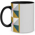 Geometric Shape Black Mug
