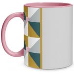 Geometric Shape Pink Mug