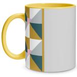 Geometric Shape Yellow Mug