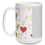 Hearts Doodle Big Mug
