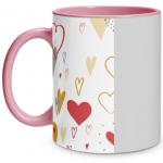 Hearts Doodle Pink Mug