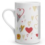 Hearts Doodle Porcelain Mug