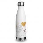 Hearts Doodle Water Bottle