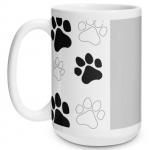 Paw Print Big Mug