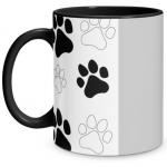 Paw Print Black Mug