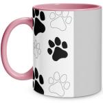 Paw Print Pink Mug