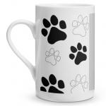 Paw Print Porcelain Mug