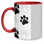Paw Print Red Mug