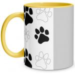 Paw Print Yellow Mug