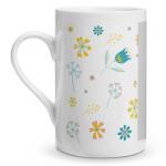 Vintage Floral Porcelain Mug